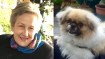 Monica Winter's car was found near the Fraser River in Burnaby on Feb. 10. Her dog, Chloe, has not been located.