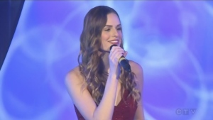 Christy Hemmer sings for the CTV Lions Telethon