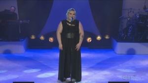 Katie Harper sings at the CTV Lions Telethon