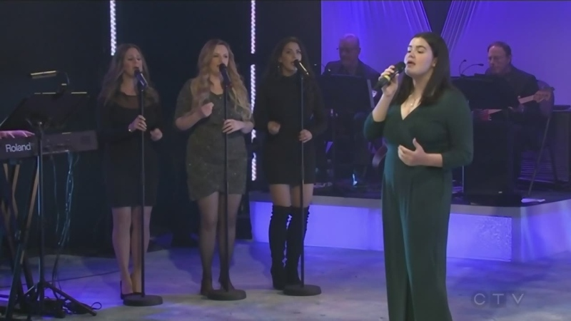 Maryn Tarini sings at the CTV Lions Telethon