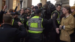 VicPD spent $183,037 on overtime pay for officers to attend 34 public rallies, marches and protests between Jan. 1 and March 5, according to the department. (CTV News)