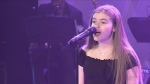 Ellie Rajotte sings for the CTV Lions Telethon