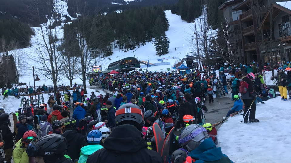 Line up at Whistler