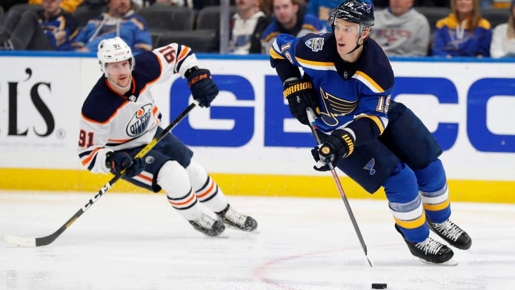 Blues issue health update on Jay Bouwmeester after scary collapse on bench
