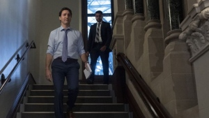Prime Minister Justin Trudeau makes his way to a caucus meeting in West block, Wednesday, December 11, 2019 in Ottawa. Adrian Wyld / THE CANADIAN PRESS