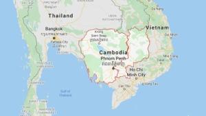Map of Cambodia (Google Maps)