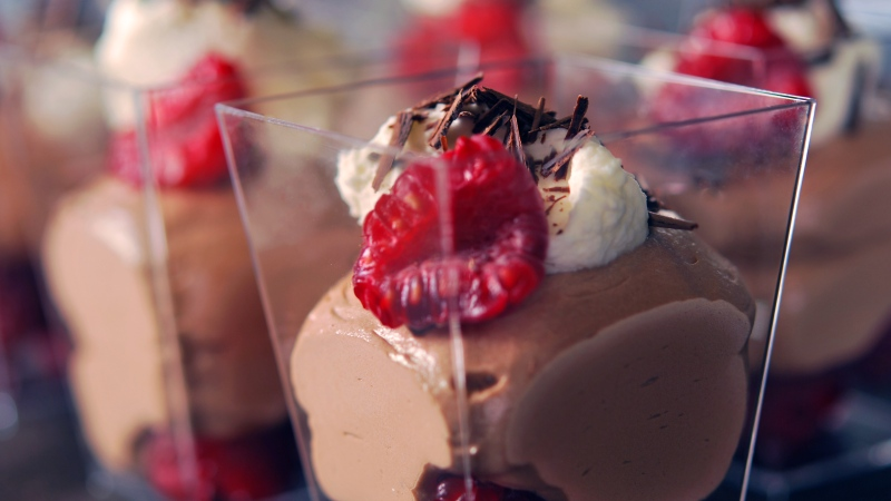Raspberry chocolate mousse from ATCO Blue Flame Kitchen