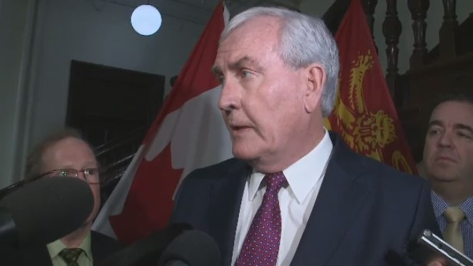 Opposition Liberal Leader Kevin Vickers speaks to reporters on Feb. 11, 2020. Vickers said his party would try to topple the government over the health-care reforms.