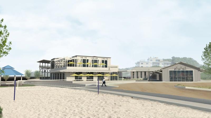 An artist's rendition shows a proposed beach development in Port Elgin, Ont. (Source: Cedar Crescent Village)
