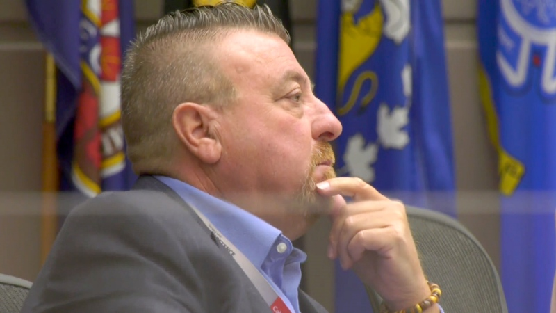 Calgary Coun. Joe Magliocca is seen at a committee meeting. (File photo)