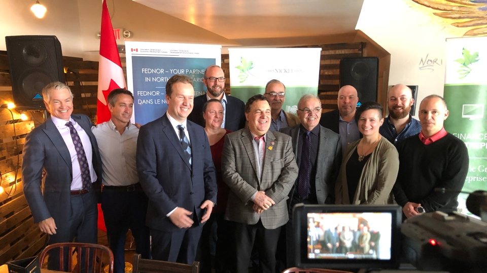 Announcement for new $5 million Sudbury Catalyst Fund. Feb. 12/20 (Ian Campbell/CTV Northern Ontario)