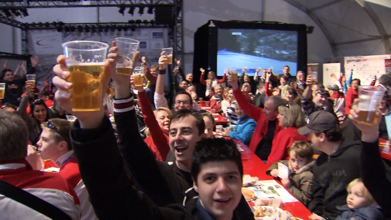 German House is seen during the Vancouver 2010 OIympics. The facility had to fly in 300 emergency kegs because patrons were consuming so much beer during the Games.