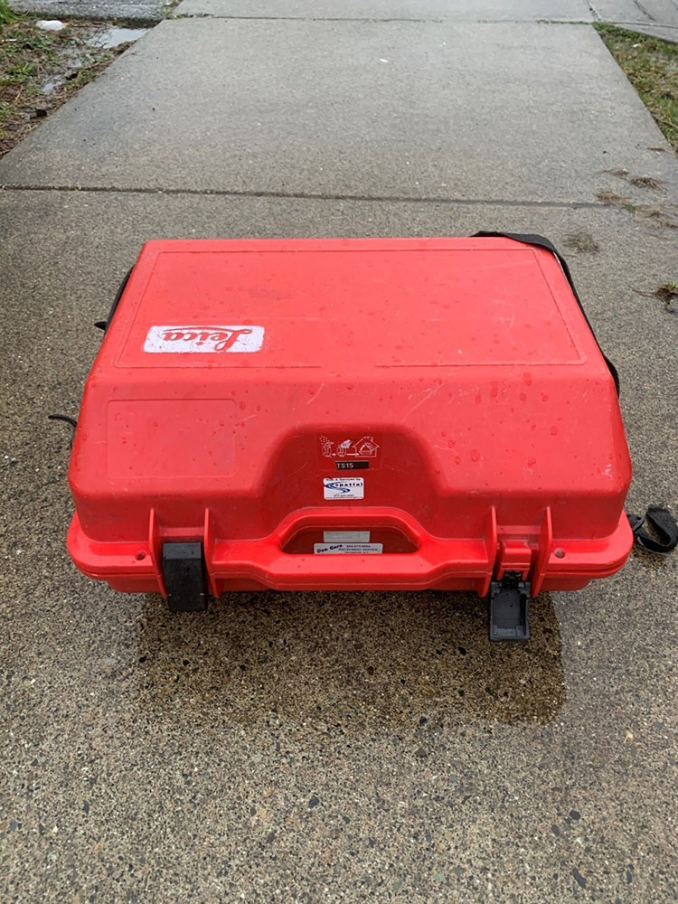 The stolen items were in bright-red cases. (Coquitlam RCMP)