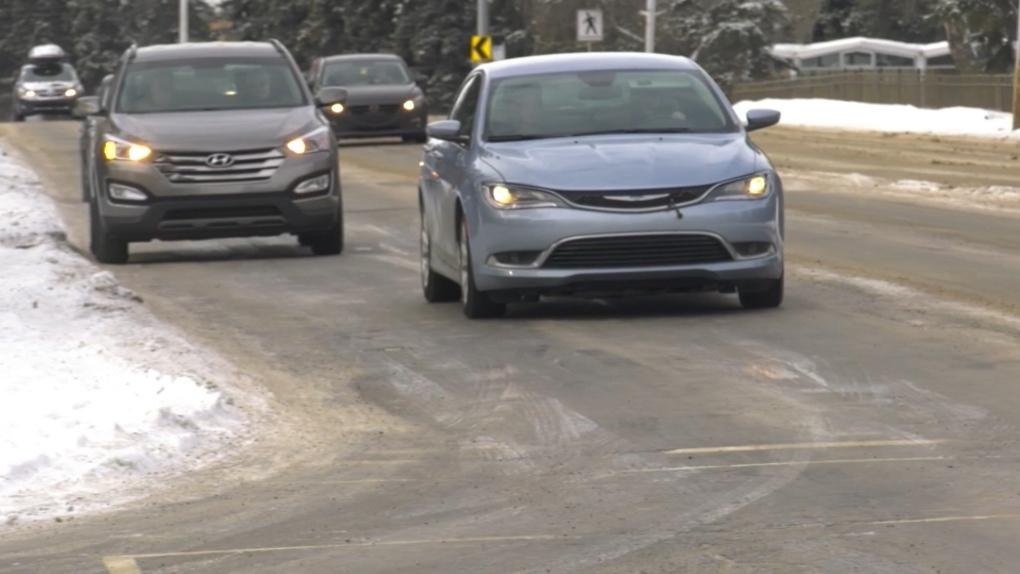 Icy roads in Edmonton