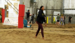 Beach volleyball is growing in popularity in the middle of a Calgary winter. Glenn Campbell reports.