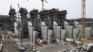 The construction site of the hydroelectric facility at Muskrat Falls, Newfoundland and Labrador is seen on Tuesday, July 14, 2015. Andrew Vaughan / THE CANADIAN PRESS