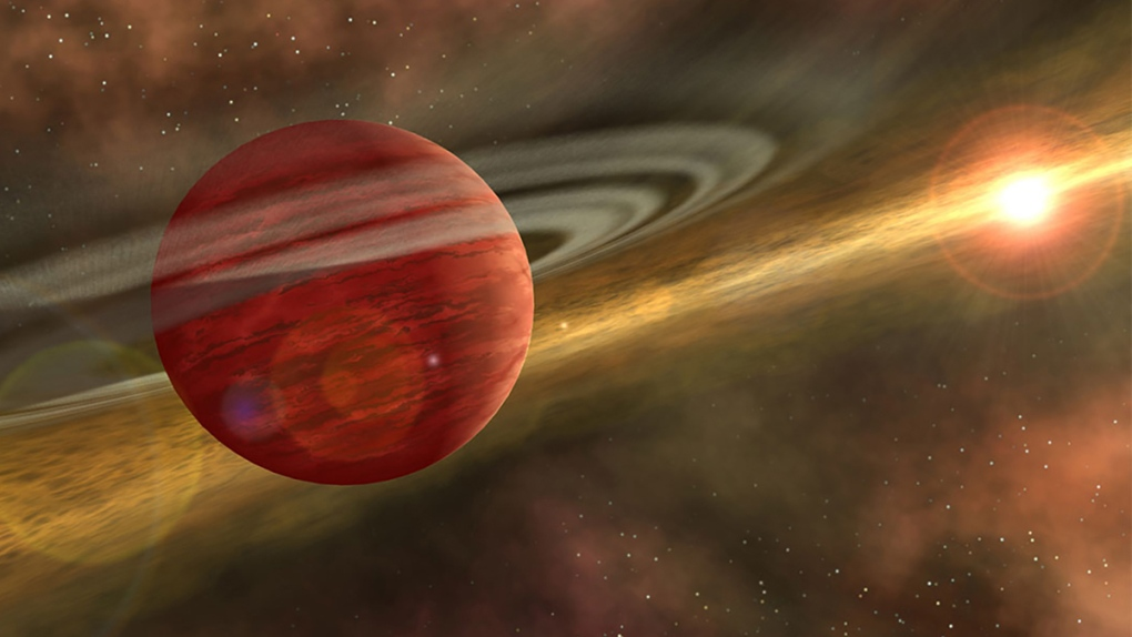 Massive planet orbits a cool, young star