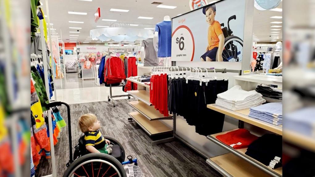 Oliver Garza-Pena at a Target store