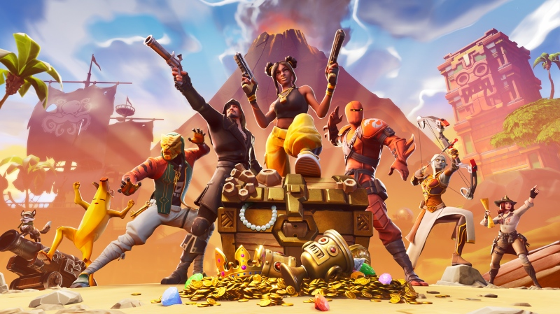A promotional image for the video game 'Fortnite' can be seen in this photo. (Epic Games)