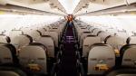 An undated file photo showing empty seats on an airplane. (Kelly Lacy / Pexels)