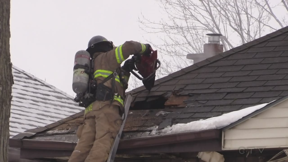 Fire on Frances Street - February 13, 2020 (CTV London / Gerry Dewan)