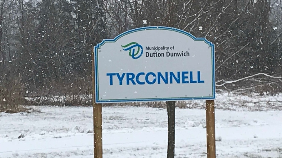 Tyrconnell sign (CTV News / Sean Irvine)
