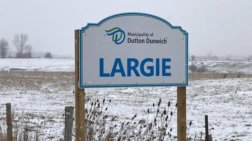 Largie sign