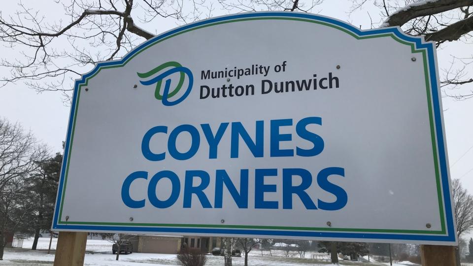 Coynes Corners sign