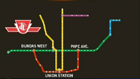 The proposed TTC subway line would stretch across the city centre and increase ridership by 17,000 each hour during peak times, according to a study completed in the 1980s.