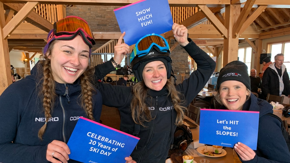 Nearly 300 people took part in the Spinal Cord Injury Ontario annual Ski and Snowboard Day at Craigleith Ski Club on Thurs., Feb. 13, 2020. (Supplied)