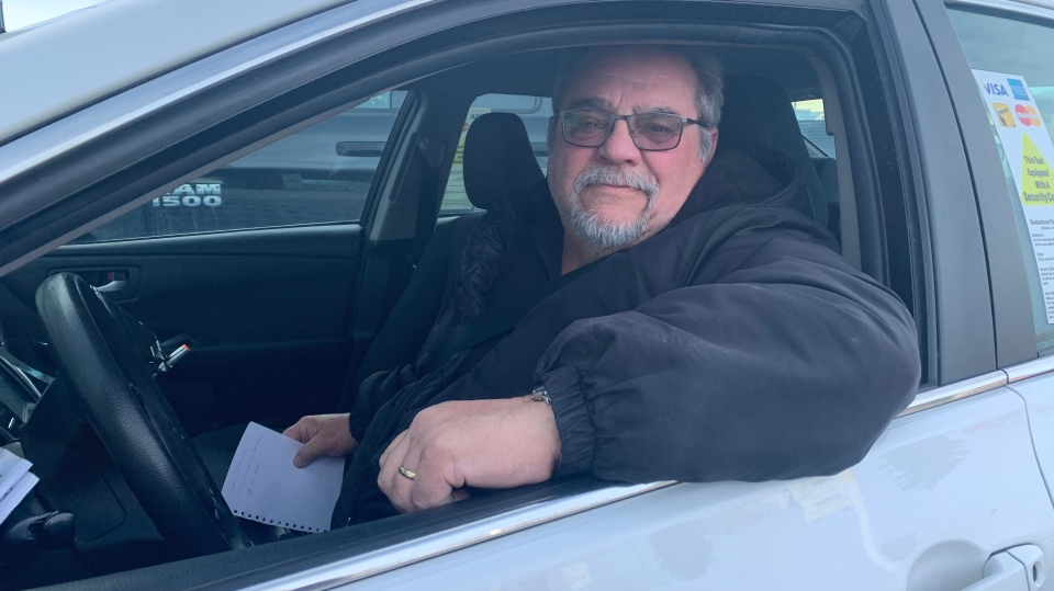 Dale Gallant, a driver with Riide, has been working in the taxi industry for 46 years. (Nicole Di Donato/CTV Saskatoon)