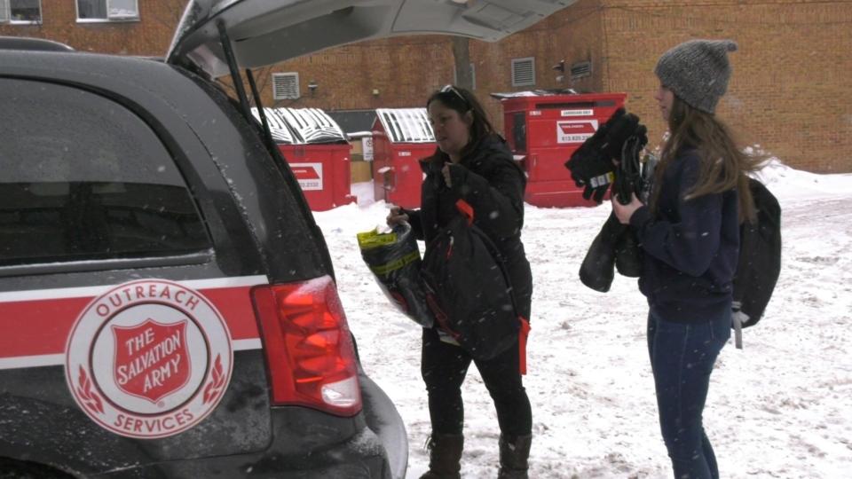Salvation Army mobile outreach team