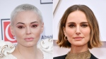 Rose McGowan and Natalie Portman are shown here in this composite photo. (John Phillips/Amy Sussman/Getty Images)