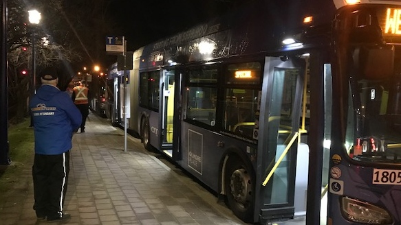 TransLink has set up a bus bridge to commuters travelling from Mission to Coquitlam on Feb. 14, 2020.