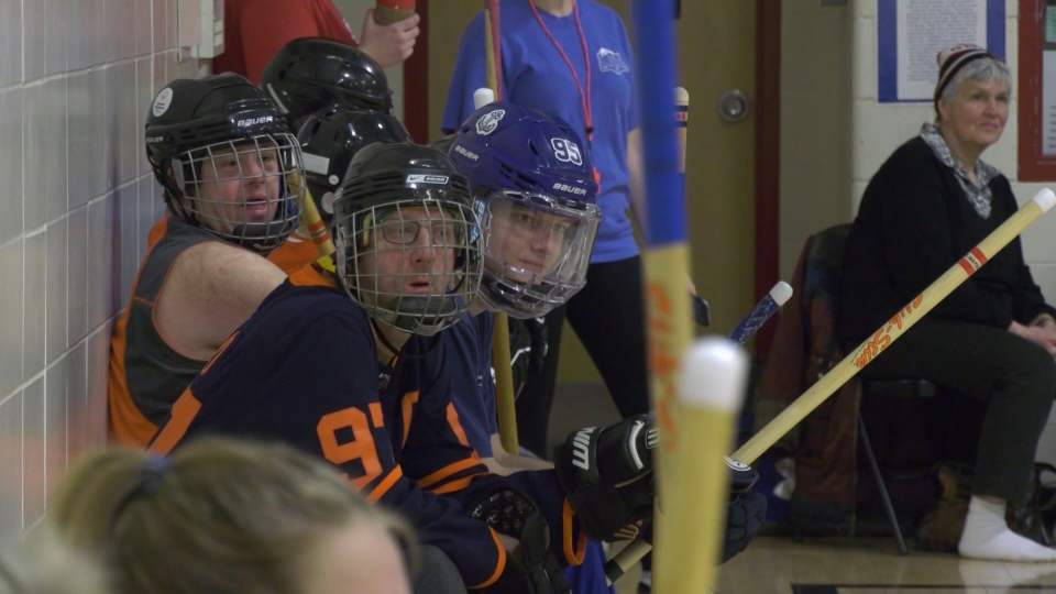Special Olympics floor hockey