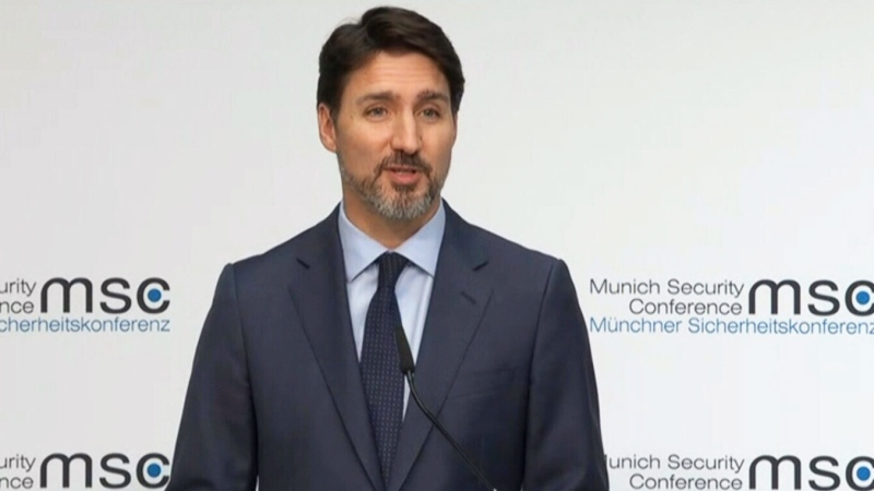 PM Justin Trudeau speaks in Munich, Germany
