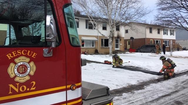 Fire on Toulan Crescent (Nick Paparella / CTV News)