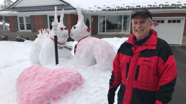 Snow love bunnies multiplying on Waterloo lawn