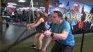 Lynn and  Daniel Grushka working out (CTV News / Celine Zadorsky