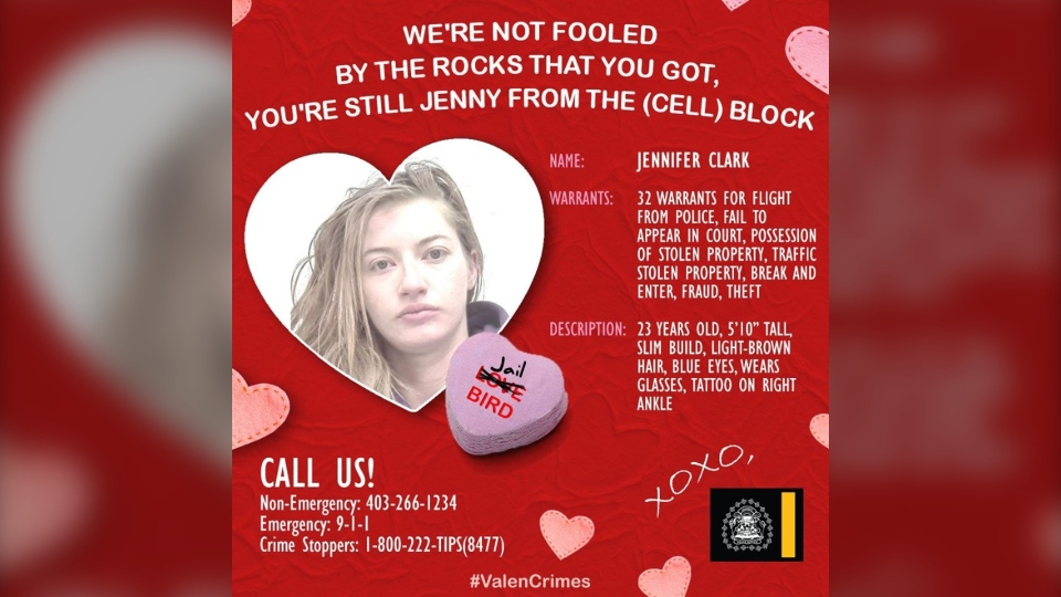 Jennifer Clark, wanted, CPS, Valentine's