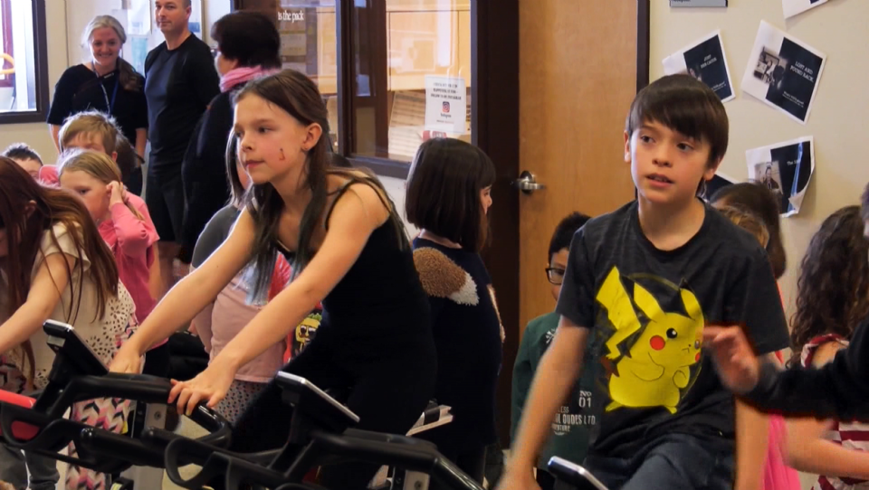 Students at Westmount School in Okotoks spent Friday learning about the mental health benefits of robust exercise.