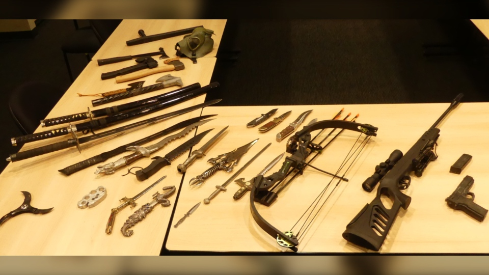 Weapons seized