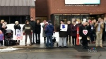 Protesters rally in Sackville