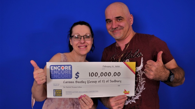 Lucky Sudbury couple wins $100,000