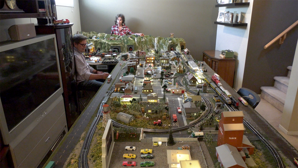 74-year-old Jim Padley has built a model train village in his basement. Padley believes the mental stimulation helps, along with regular exercise and a proper diet, to prevent dementia, which both his brother and dad suffer from.