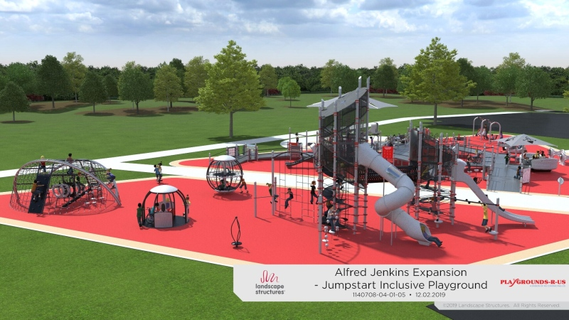 A concept drawing of a playground expansion in Prince Albert. (Submitted photo)