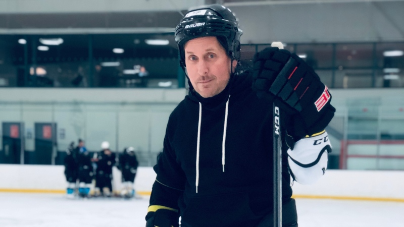 "Production has begun on a new Disney+ series based on ""The Mighty Ducks"" films, with Emilio Estevez reprising his role as coach Gordon Bombay. (Disney+)"
