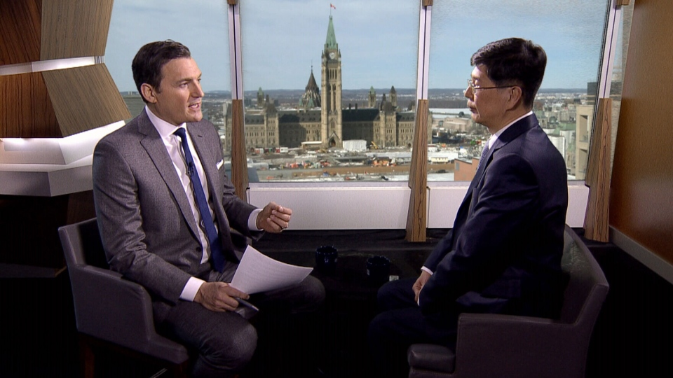 CTV's Question Period host Evan Solomon interviews Chinese Ambassador to Canada Cong Peiwu.