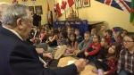 Students honour veterans on Valentine's Day