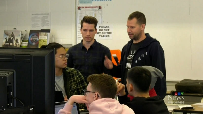 Sisler High School students got some high tech help from gaming giant Ubisoft.